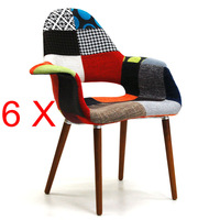 6 X Eames Organic Chair