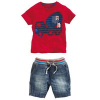 Комплект одежды для мальчиков Boys Clothing Set Baby Boys Summer Clothing Sets T-shirt+ Lattice Short Pant New Kid Apparel