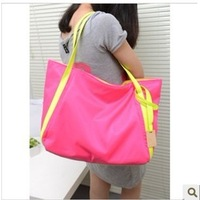 2013 cool neon color block candy one shoulder bag neon bag