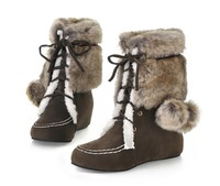 Increased within  qiu dong female boots frosted warm boots. Free shipping