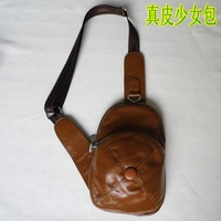 2013 cowhide young girl bag outdoor fashion one shoulder cross-body women's handbag fashion casual genuine leather small