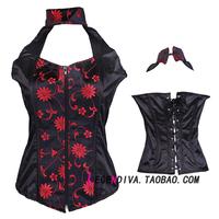 Royal vintage vest zipper drawing abdomen shaper corset underwear fashion waist