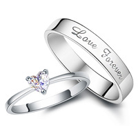 Jpf lovers ring 925 pure silver ring female silver jewelry pinky ring