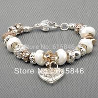 Chamilia Bracelets , 925 sterling silver bracelets for women, Fine Chamilia beads charm bracelets jewelry free shipping Pa1031