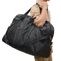 Large capacity Black Nylon waterproof luggage bag travel bag single shoulder bag 70*44cm