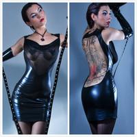 Plus Size 2014 PVC Catsuit Faux Lace Hollow Out Leather Dress DS  Dress, Club Wear Dancing Costume For Women