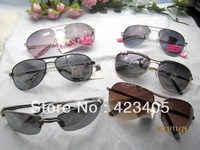 Free shipping Hot sale Men  women's fashion full frame Super Star lovely new metal mix Sunglasses  gift