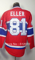 #81 Lars Eller Men's Authentic Home Red Hockey Jersey