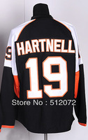 #19 Scott Hartnell Men's Authentic Home Black Hockey Jersey