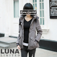 Luna smudge rib knitting skiing thermal fabric down coat 598 yr00236