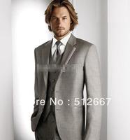 CUSTOM MADE CHEAP High quality gray PARYT Groom Tuxedos Men's PROM Wedding BRIDEGroom Wear Best Man for Suits Groomsmen Dress
