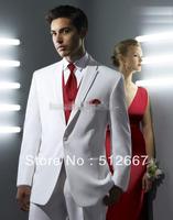New Design White Groom Tuxedos PARTY Groomsmen Best Man FOR Suit PROM Men Wedding Suits Bridegroom DRESS(Jacket+Pants+Vest+Tie)