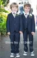 Top sell/Custom made Kid Clothing New Style Complete Designer Boy Wedding Suit/Boys Attire navy blue(Jacket+Pant+Tie+Vest)tuxedo