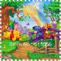 Cheap price 9 Pcs/set Winnie Crawling Rug baby mat Cartoon Floor Mat Baby's Climb Blanket Eva Foam Puzzle Mat Game Carpet PM010