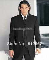 CUSTOM CHEAP HOT SALE western Wedding/Prom Men's Suits Groom Tuxedos Groomsman party evening man for dress(Jacket+Pants+Tie+Vest