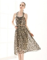 The temptation to metal dress sexy Bohemia leopard free shipping