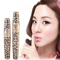 Free Shipping! New Waterproof Love Alpha Double Brand Mascara with Panther Package Double Waterpro of Mascaras 1 Set=2Pcs makeup