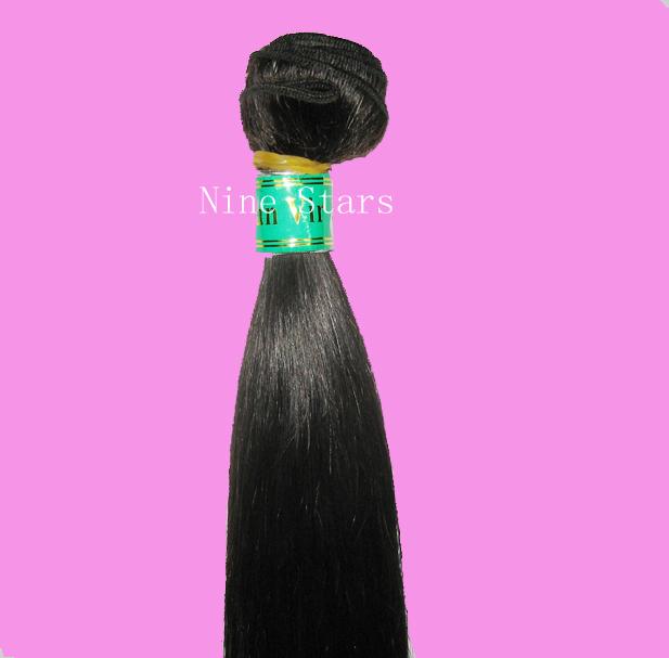"Nine Stars Hair Weaving free shipping peruvian straight top hair extensions, nice hair,Length12""-30"" cheap price(China (Mainland))"