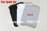 For Ipad 5 Tablec For Ipad air back Guard Vinyl Carbon Fiber Sticker 200pcs/lot Free Shipping VIA DHL