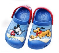 Free shipping fashion summer 3D cartoon beach Mickey & Pluto comfortable Kids sandal/slippers children shoes home slippers