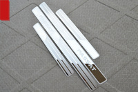 Free shipping Stainless Steel ultrathin Door Sill Scuff Plate For Volkswagen VW Passat B7