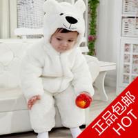 Free shipping! Killer loop rabbit winter baby romper thickening cotton-padded plush cartoon polar bear style romper coverall