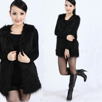 2013 autumn fur vest women's rabbit fur faux medium-long casual fur coat vest