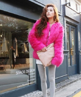 New arrival hot winter vivi women's fur coat fashion overcoat fur clothing