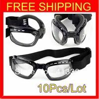 2013 New 10 Folding Windshield Frame Glasses Retro Ski Bike Motorcycle Off-road Anti-dust Goggles