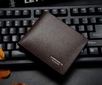 Free Shipping Hot Sale Men Genuine Leather Wallet Designer Cowhide Card Bifold Purse Brand Wallet for man Coffee H041-1
