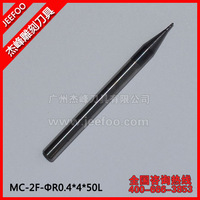 MC-2F-R0.4*4*50L TWO SPIRAL/FOUR SPIRAL  FLUTE END MILLS
