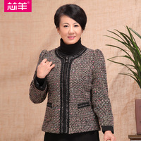 Core sheep 2013 quinquagenarian women's mother clothing o-neck long-sleeve intellectuality outerwear w599  free shipping