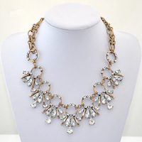 Free Shipping / J-C-J /  MIXED CRYSTAL  NECKLACE