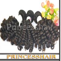 Free Shipping Peruvian Virgin Baby Curly Hair color 1b# Curly Human Hair Weave 4 bundles / Lot no Shedding and no Tangle