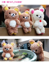 3D Cute Teddy Bear Design Cool Plush Toy Doll Cover Case For iphone 5 5G 5S  Mobile Phone 1pcs Free shipping+Protective film