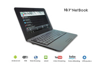 10.1 inch 1088A Android 4.2 Netbook WM8880 Dual Core 1.5GHz WSVGA Screen 1GB RAM 4GB Memory wifi UMPC Laptop free shipping