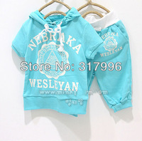 Free shipping 2014 New Arrival children clothing set,candy shirt + shorts set,boy clothing set,girl clothing set,5sets/lot