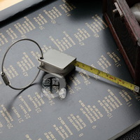 Car circle tape measure keychain mini steel tape measure key chain tiechi small square tape measure key ring gift feet
