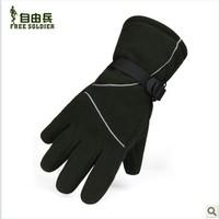 Ski windproof fleece gloves for men and women wind warm gloves ride fleece gloves/tactical racing gloves