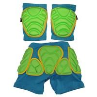 Boys Girls Kids impact shorts eva pad  soft flexibity Nylon cloth for ski skateboarding ice funny sports 3-8 years old