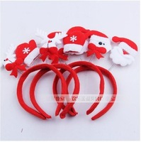 jr032 wholesale 10pcs Design random delivery the head band buckle/Santa Claus hair hoop tire/antlers Christmas holiday gifts