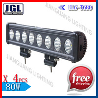 Hot cree T6 10W lightstorm single row vehicle lights,underwater marinecree 80w led light bar  4pieces/lot
