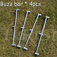 4 x Fishing buzz bar for 2 fishing rods fishing rod holder fishing equipment