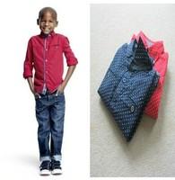 CS3164  free shipping Kids boys dot print shirt ,children long sleeve shirt, boys shirt