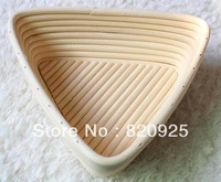 2pcs 23cm Triangle Banneton Brotform Dougn Rattan Bread Proofing Proving Basket