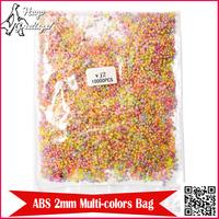 Hot Selling (10,000 pcs/pack) 2mm ABS Semicircle Imitation Pearl Plastic Beads for Nail Art DIY Arts