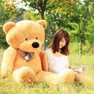120cm Cute Design Giant Teddy Bear Stuffed Doll Plush Toys Birthday Gift Wholesale Price 3 Colors(China (Mainland))