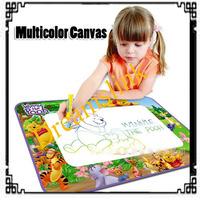 New 4pcs  multicolor Aqua doodle drawing mats+ 1 magic water pen colorful drawing mat multicolor canvas 70cmx 50cm freeshipping