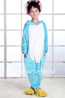 Kids blue elephant onesies Pyjamas Cartoon Animal Cosplay Costume Pajamas Kids Onesies Sleepwear Halloween