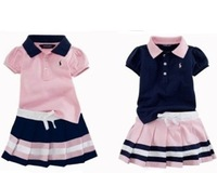 Free shipping 2014 summer children T shirt+shorts skirt clothes set